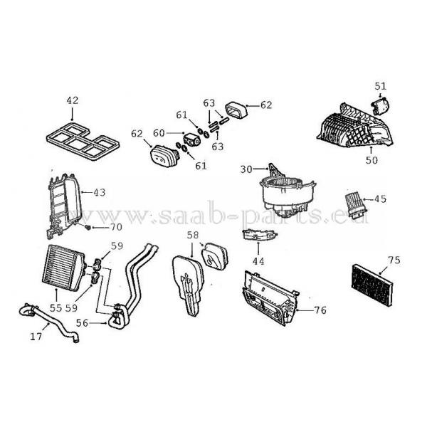 Gebläse Teil-1: Saabteileneu + gebraucht9.3 Typ 2 ( 2003
