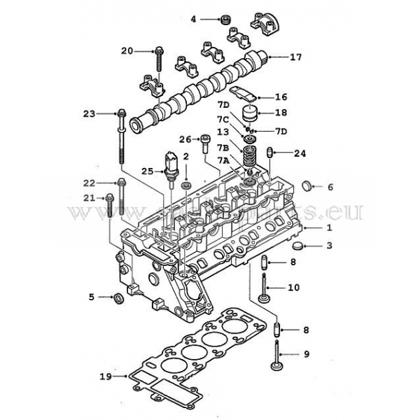 Zylinderkopf: Saab parts 9-3 Typ-1 ( 1998-2003 ) Motor