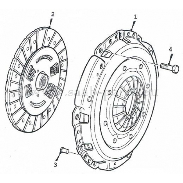 Druckplatte + Lamelle: saab parts 9-3 ( 1998-2003