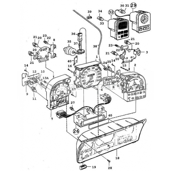 1994-1998: saab parts 9000 ( 1994-1998 )Elektrik Tacho