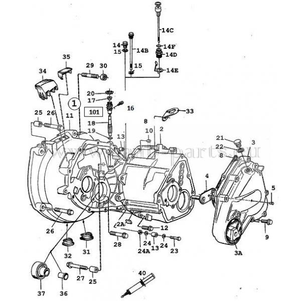 1985-1989: Saab parts 9000 ( 1985-1998 )Getriebe Gehäuse
