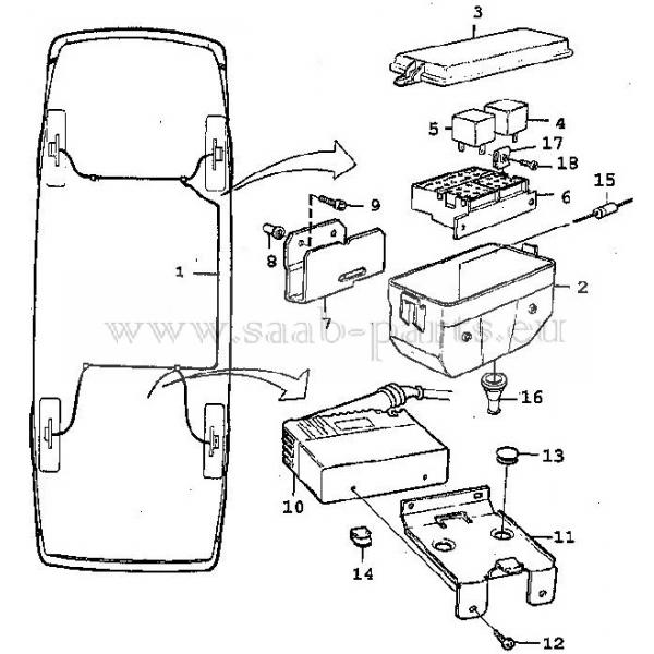 Steuerung 1990-1993: saab parts 900-1 Typ 1 ( 1978-1993