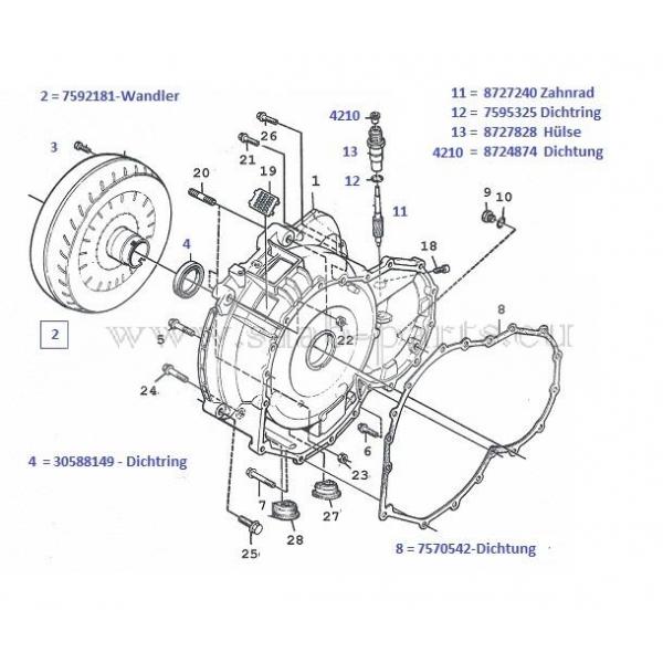 Wandler + Glocke: Saab Teile neu + gebraucht9000 ( 1985