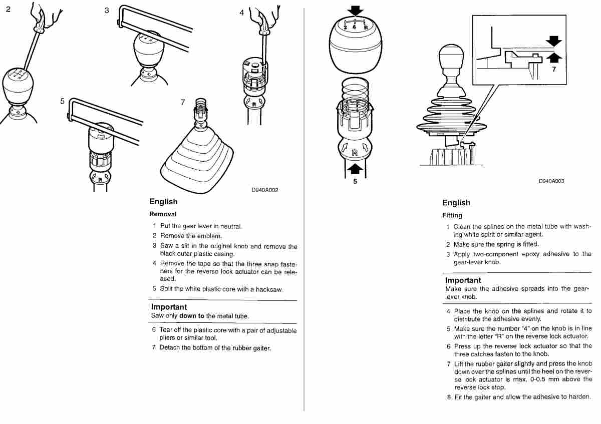 Gear Knob Replacement instructions, PDF?