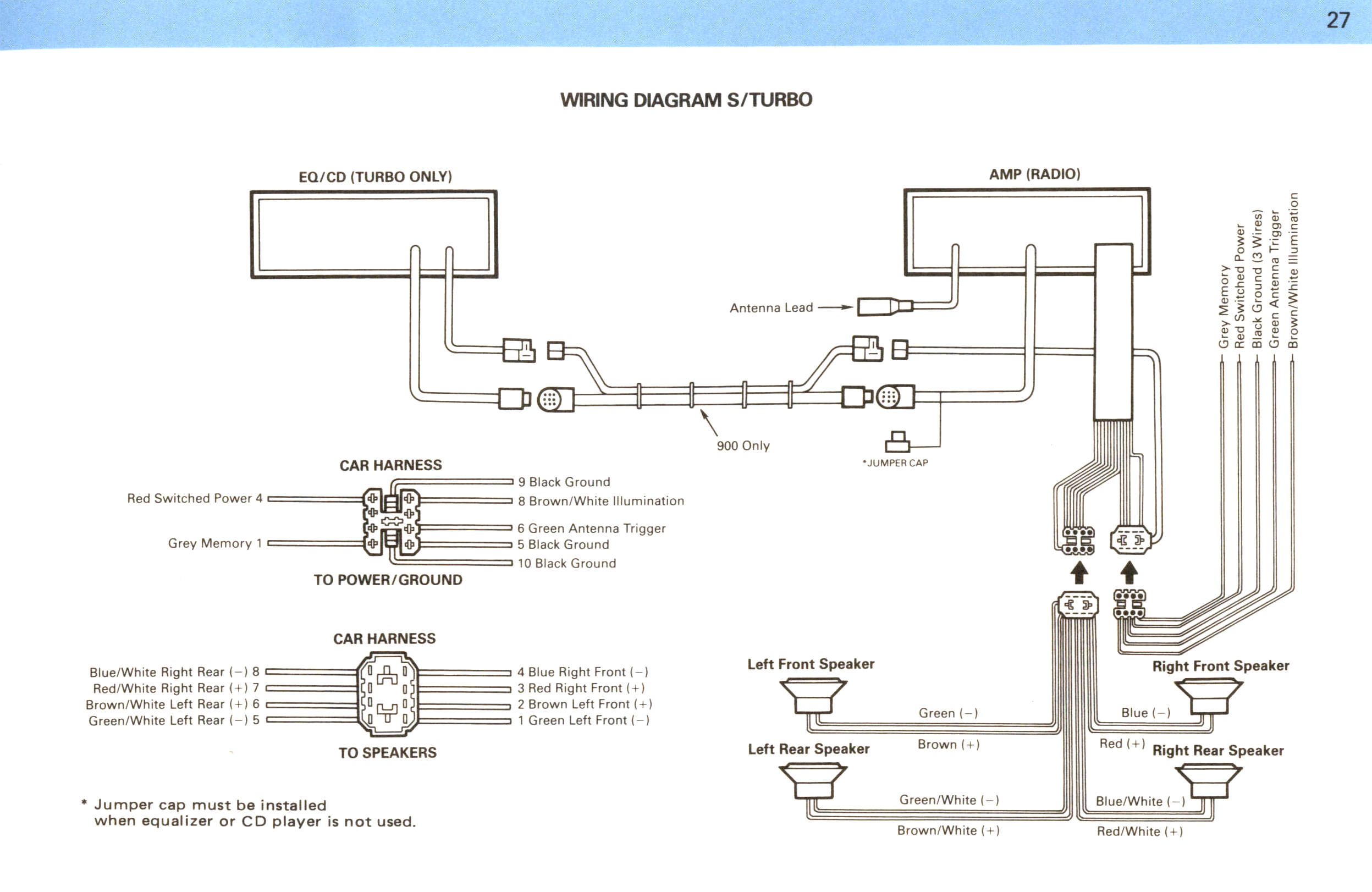 wiring diagram for clarion car stereo mercruiser 5 7 saab audio system my84 94