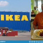 """Dad was getting hungry and wanted some """"real food"""". Off to Ikea Hamburg for some Swedish meatballs... :D"""