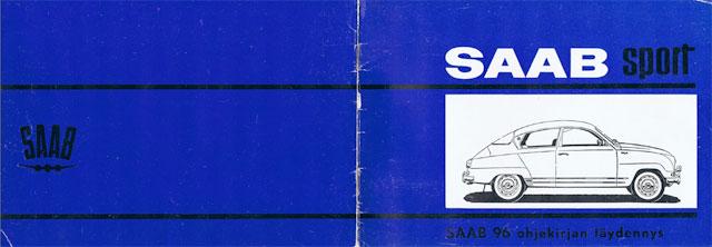 Saab Sport handbooks 1964 to 1965 – Finnish and Swedish only