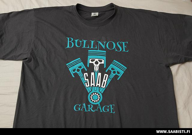 Bullnose SAAB Garage T-Shirts for sale
