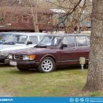 Four door Saab 99s.
