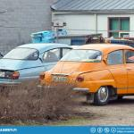 Saab 96 parking only.