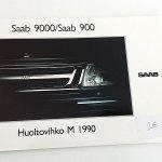 Saab 9000 / 900 Huoltovihko 1990. -MYYTY-