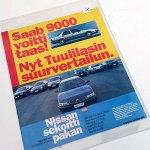 Saab 9000 voitti taas! Tuulilasin suurvertailun eripainos 1995. 12s. 4 €.