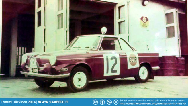 Mikkos father Sakari Parikka was a rally driver himself. Here is a photo of his BMW 700LS Coupe just before Rally Of The Thousand Lakes 1961.