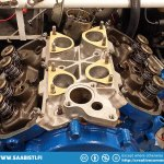 To make some progress we started to put intake and carburetors together temporarily.