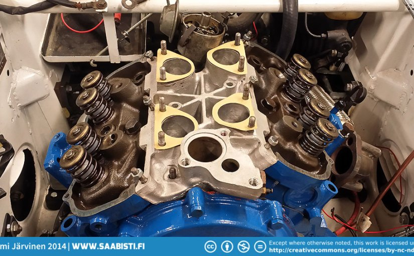 Saab 96 V4 Rally – a slight delay and some protection for the carburettors