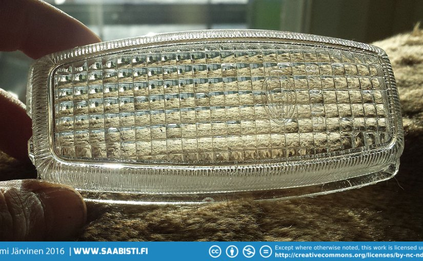 Polyester resin casting new light lens for a bullnose Saab