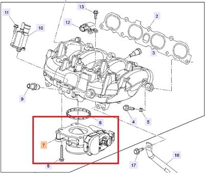 Saab 9-5 Throttle Body (2010-2011 Saab 9-5) ITEM #7