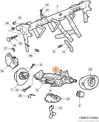 Intermediate Steering Column Shaft (9-3 (2003-2007)