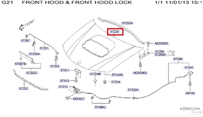Saab 9-2x Hood (2005-2006 AERO Only)