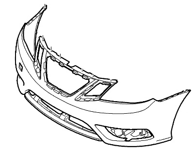 **FREE GROUND SHIPPING** Genuine Saab 9-3 Front Bumper