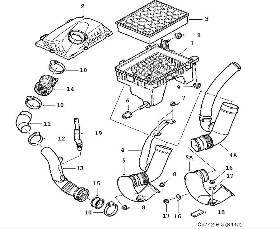 Fuel system, Air cleaner