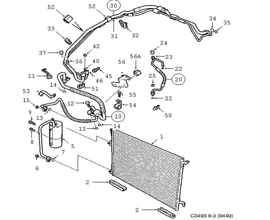 Heating and ventilation, AC condenser 4 door Convertible 5