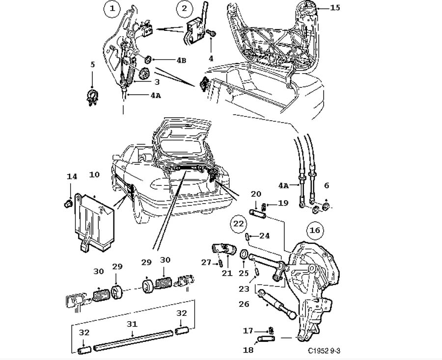 Car body, Tonneau cover, Part 1
