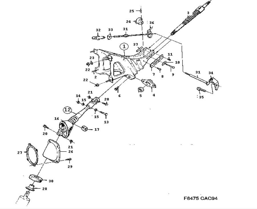 Steering device, Intermediate shaft, Bracket