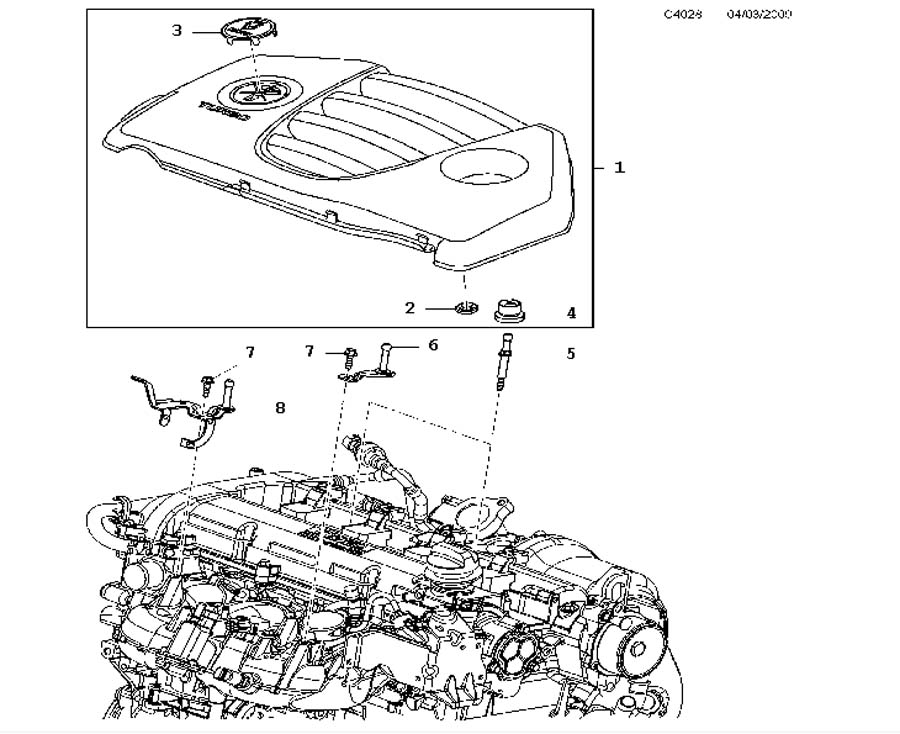Engine bay cover, Engine bay cover A20NHT,4 Cylinder Turbo