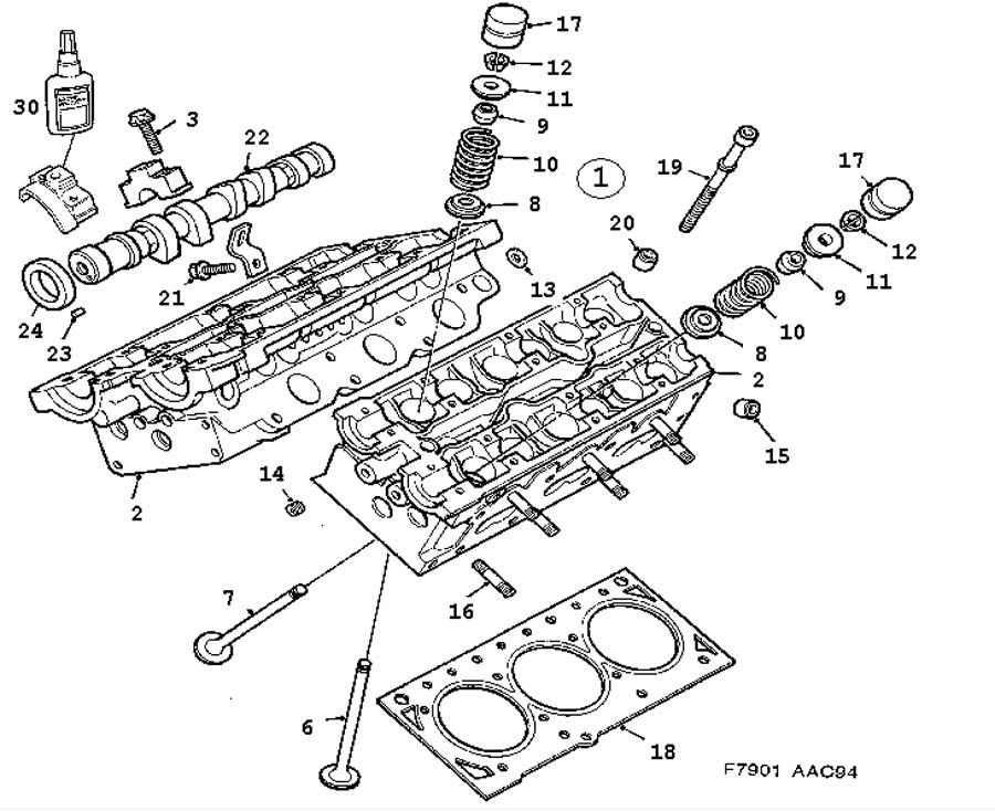 Service manual [1997 Saab 900 Cylinder Head Installation