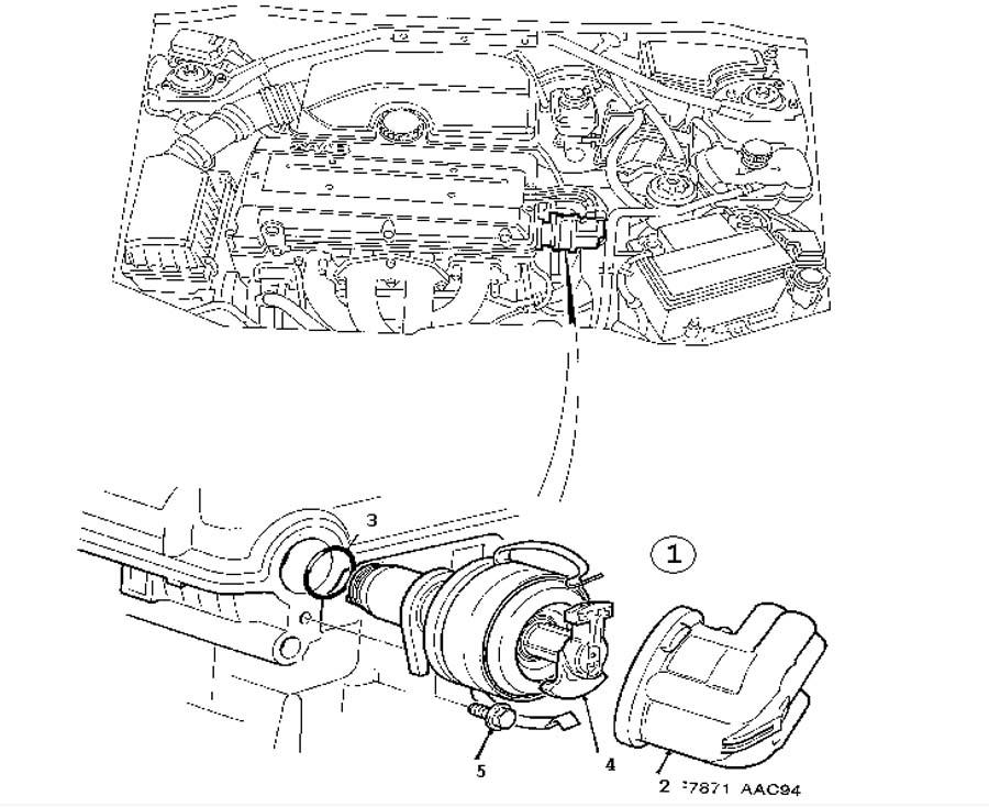 Ignition system, Ignition distributor, 4-cylinder 4 Cylinder