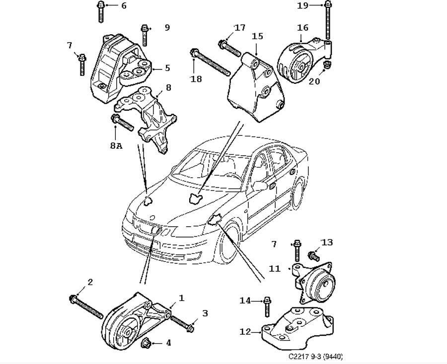 Short block, Engine suspension Z18XE,4 Cylinder,