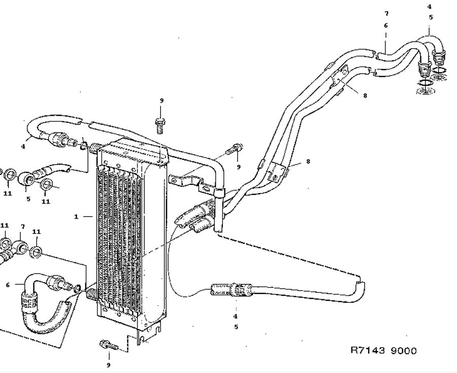 Cooling system, Air oil cooler