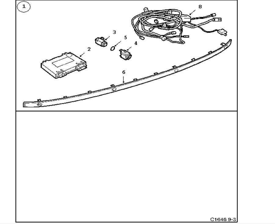 Accessories body, Saab Parking Assistance (SPA) 4 door 5