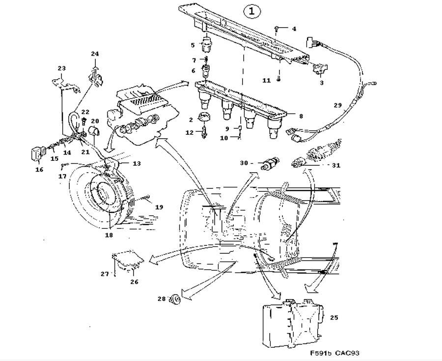 Ignition system, SAAB DI