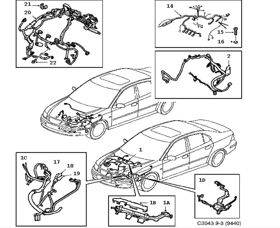Wiring and fuses, Motor, transmission 5 door 4 door