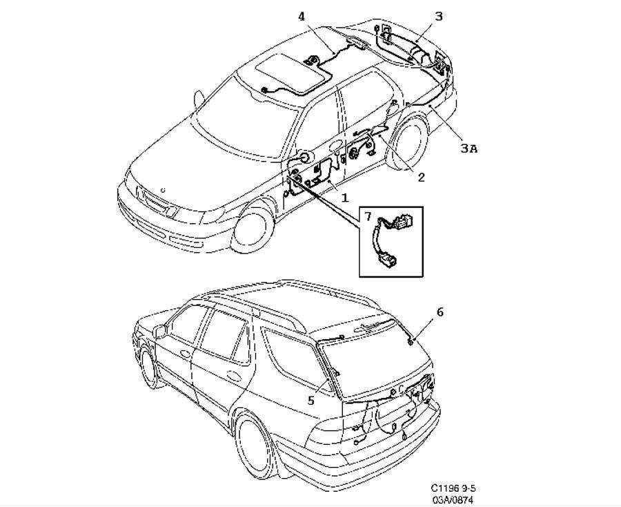 Saab Stereo Wiring Harness 2005 9 5