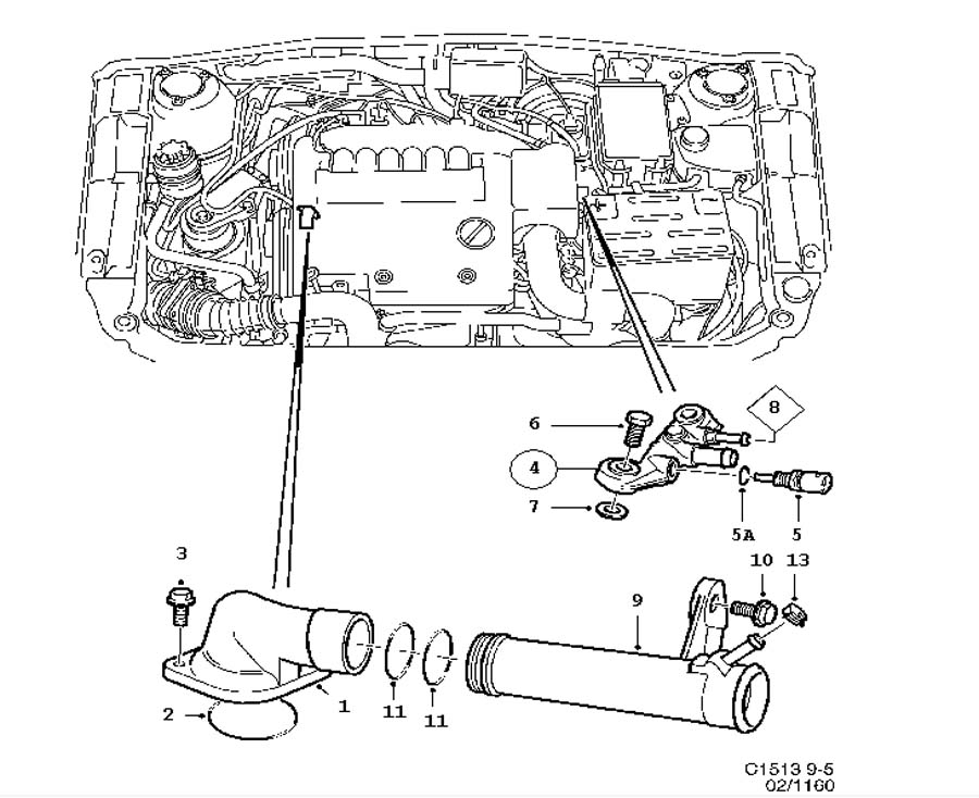 Cooling system, Thermostat 6 Cylinder