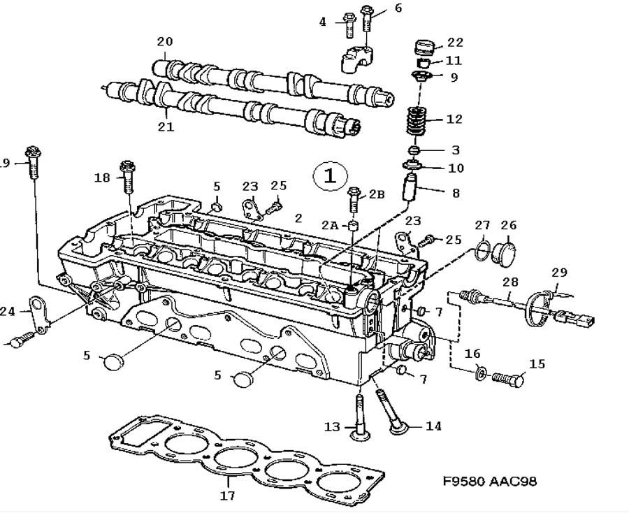 Engine body, Cylinder head 4 Cylinder