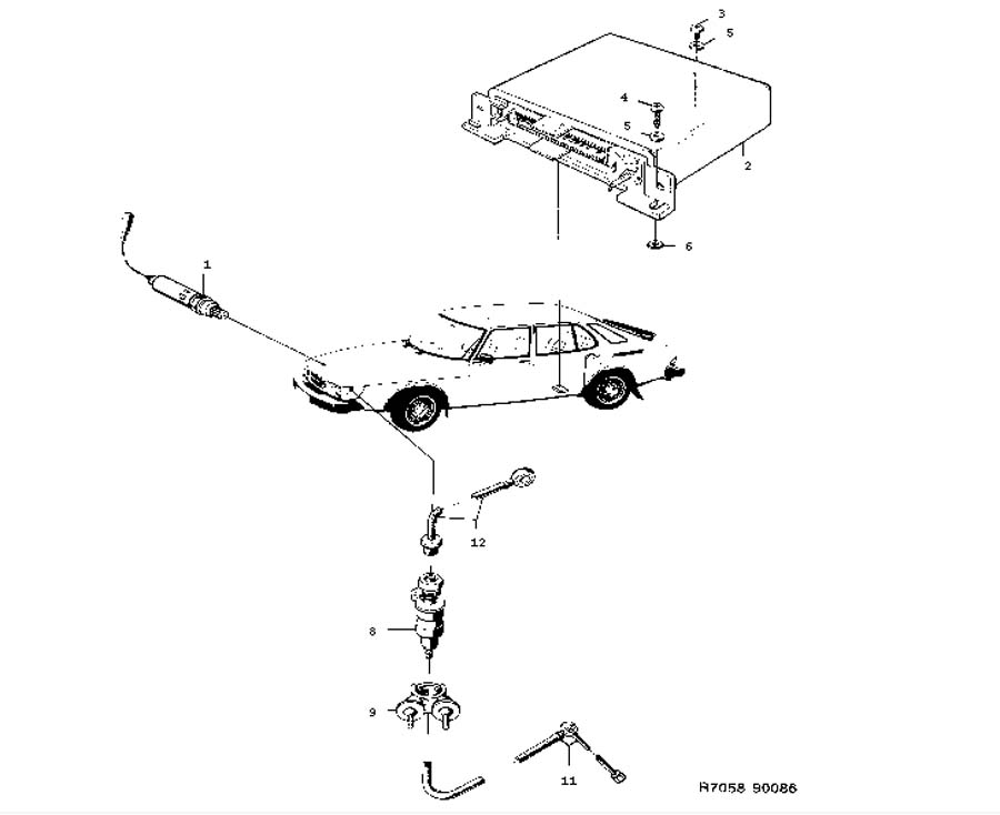 Inlet and exhaust system, Lambda sonde system