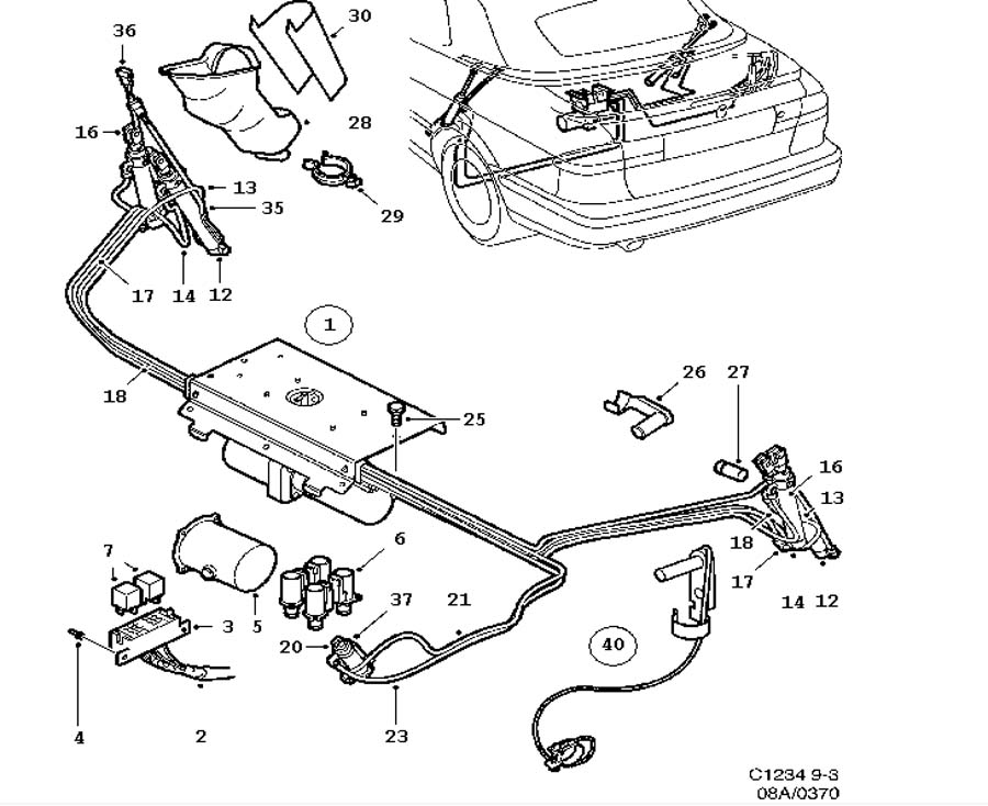 Car body, Hydraulic system, Convertible Convertible