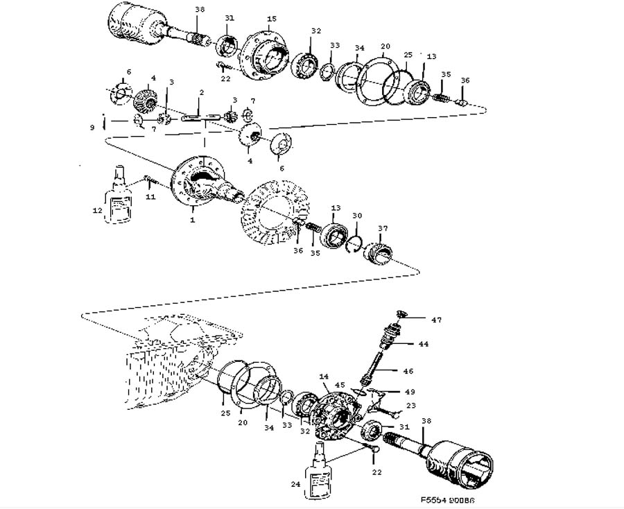 Gear box, automatic, Differential Automatic