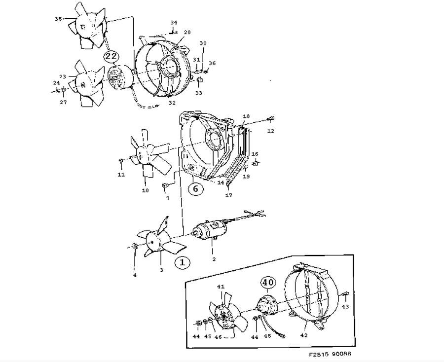 Cooling system, Fan, etc
