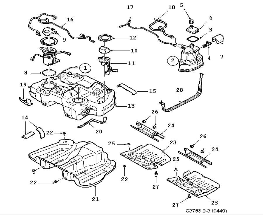 98 saab 900 engine diagram