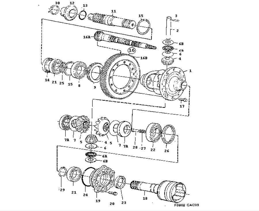 Gear box, manual, Differential Manual