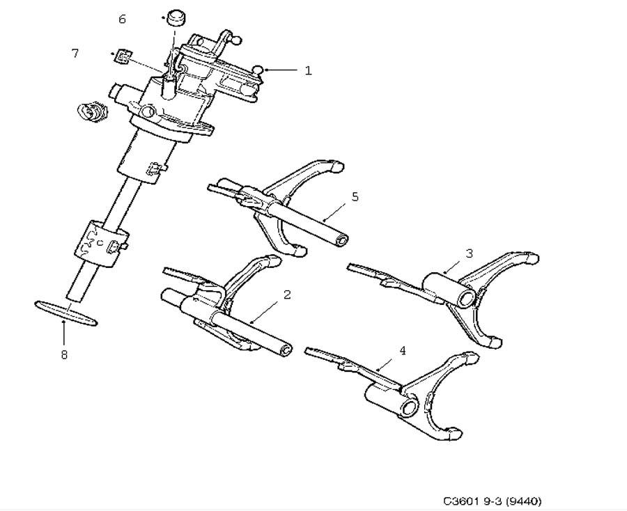 Gear box, manual, Gear selector fork, 6-speed Manual