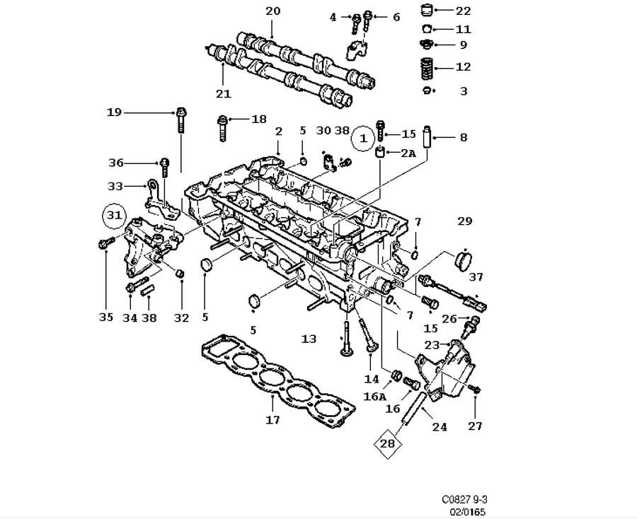 Engine body, Cylinder head 4 Cylinder 4 Cylinder Turbo, ,4