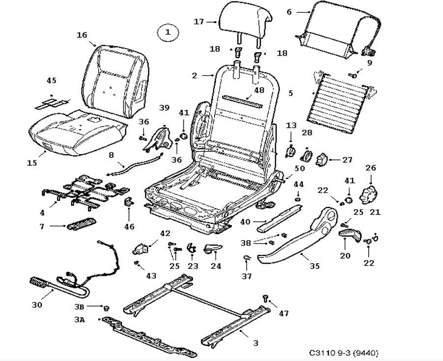 Other interior equipment, Seat, Manual 4 door 5 door