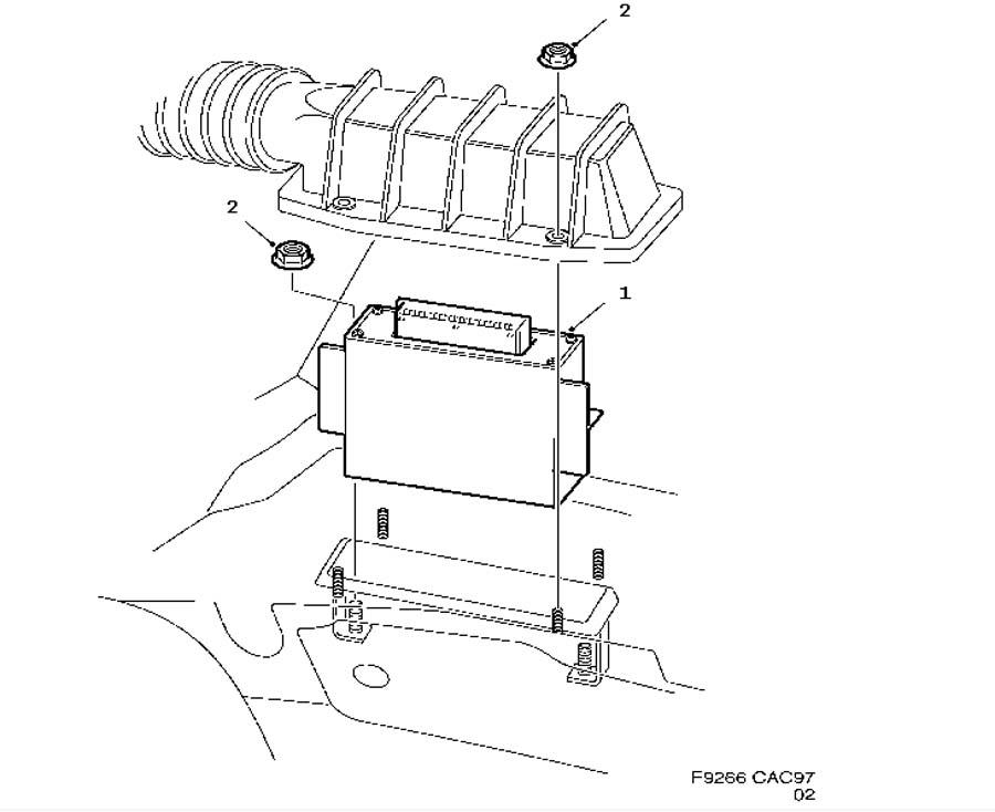 Fuel system, Engine control module, TRIONIC 4 Cylinder 6