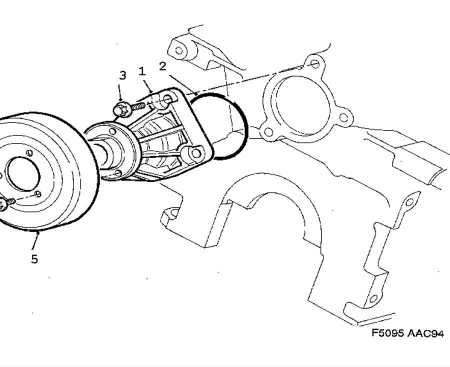 Cooling system, Coolant pump 6 Cylinder